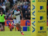 Danny Care of Harlequins runs in to score his side's third try during the Aviva Premiership match between Exeter Chiefs and Harlequins at Sandy Park on May 4, 2014