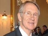 Senator Harry Reid of Nevada (L) on February 5, 2007