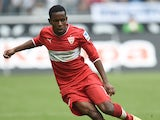 Stuttgart's Guinean midfielder Ibrahima Traore plays the ball during the German first division Bundesliga football match Borussia Monchengladbach vs VfB Stuttgart in Monchengladbach, western Germany on April 12, 2014