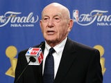 Former coach Dr. Jack Ramsay receives the 2010 Chuck Daly Lifetime Achievement Award before Game Two of the 2010 NBA Finals on June 6, 2010