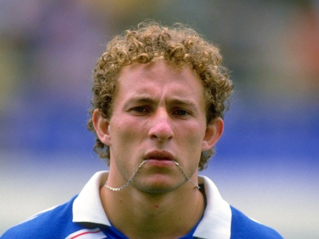 Jean-Pierre Papin representing France on June 28, 1986.