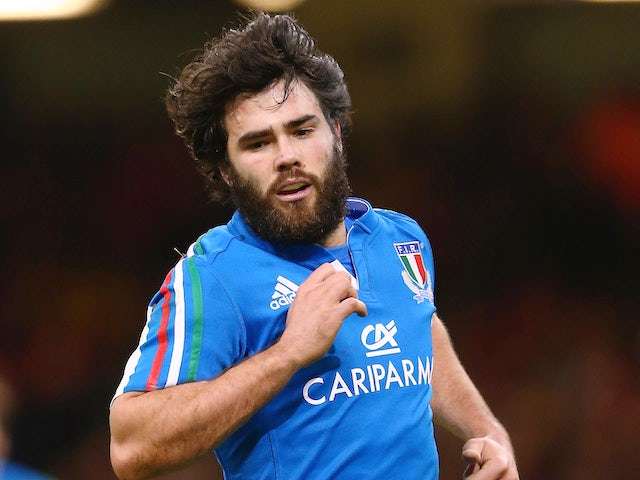 Luke McLean of Italy during the RBS Six Nations match between Wales and Italy at the Millenium Stadium on February 1, 2014