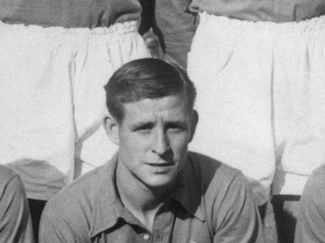 Raymond Kopa representing France on October 09, 1955.