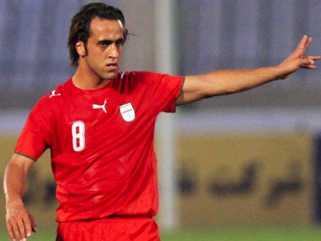 Midfielder Ali Karimi in action for Iran on July 02, 2007.