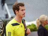 British player Andy Murray leaves after the men's singles third round tennis match against Colombian player Santiago Giraldo at the Madrid Masters at the Magic Box (Caja Magica) sports complex in Madrid on May 8, 2014
