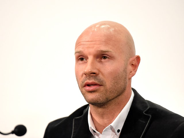 Danny Mills speaks during the FA Chairman's England Commission Press Conference at Wembley Stadium on May 8, 2014