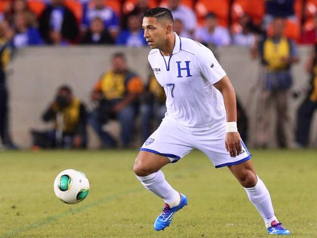 Defender Emilio Izaguirre in action for Honduras against Ecuador on November 19, 2013.