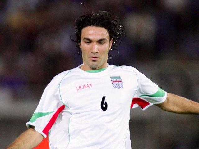 Javad Nekounam in action for Iran on August 17, 2005.