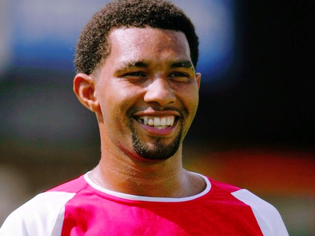 Jermaine Pennant in action for Arsenal against Barnet on July 17, 2004.