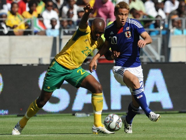 Japan's Keisuke Honda in action against Australia on November 14, 2009.