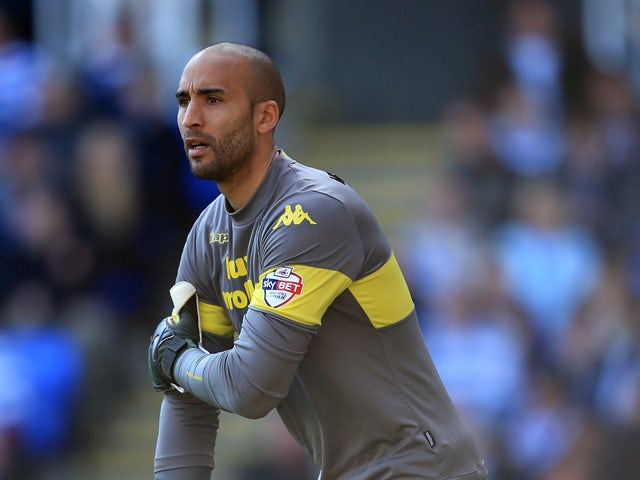 Lee Grant of Derby during the Sky Bet Championship match between Reading and Derby County at the Madejski Stadium on March 15, 2014