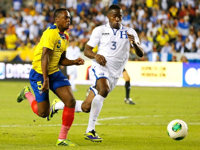 Hull City defender Maynor Figueroa in action for Honduras against Ecuador on November 19, 2013.