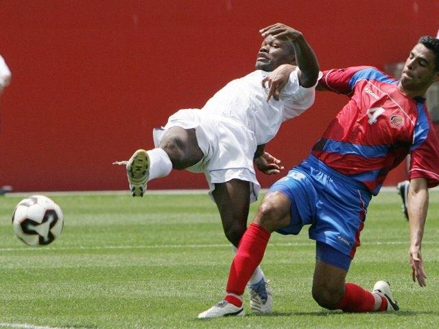 Milton Nunez in action for Honduras against Costa Rica on July 16, 2005.