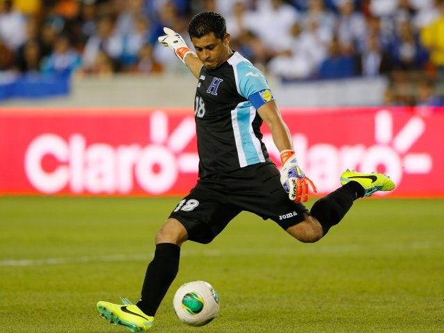Goalkeeper Noel Valladares in action for Honduras against Ecuador on November 19, 2013.