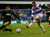 Ravel Morrison of Queens Park Rangers shoots at goal against Wigan Athletic during the Sky Bet Championship match at Loftus Road on March 25, 2014