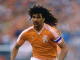 Former Chelsea midfielder Ruud Gullit play for Holland on June 28, 1988.
