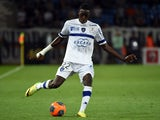 Bastia's Malian midfielder Sambou Yatabare kicks the ball during during the French L1 football match Montpellier vs Bastia at Mosson stadium in Montpellier, southern France, on May 10, 2014