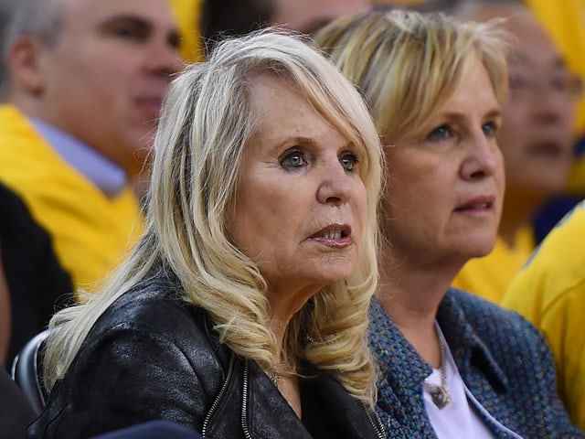 Shelly Sterling, the wife of Donald Sterling owner of the Los Angeles Clippers, watches the Clippers against the Golden State Warriors in Game Four of the Western Conference Quarterfinals during the 2014 NBA Playoffs at ORACLE Arena on April 27, 2014