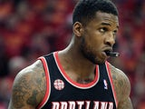 Thomas Robinson #41 of the Portland Trail Blazers in action against Houston Rockets on April 30, 2014