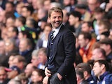 Tottenham Hotspur's English Manager Tim Sherwood gestures from the touchline during the English Premier League football match between Tottenham Hotspur and Aston Villa at White Hart Lane in London on May 11, 2014