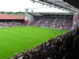 A general view of Tynecastle Stadium, home to Heart of Midlothian on September 2, 2012