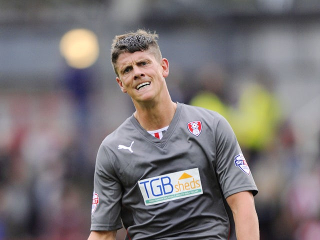 Alex Revell of Rotherham United in action during the Sky Bet League One match between Brentford and Rotherham United at Griffin Park, on October 05, 2013