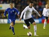 Arsenal defender Carl Jenkinson in action for England Under-21s against San Marino on November 11, 2013.