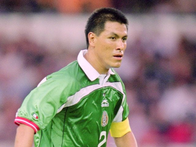 Claudio Suarez in action for Mexico against England on May 25, 2001.