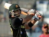 Glenn Maxwell plays a shot while on international duty with Australia on March 28, 2014.