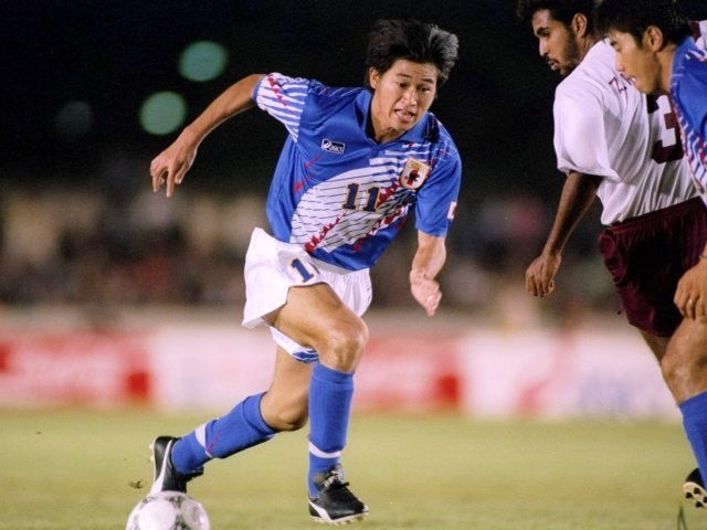Japan's Kazuyoshi Miura in action against Oman on January 01, 1994.
