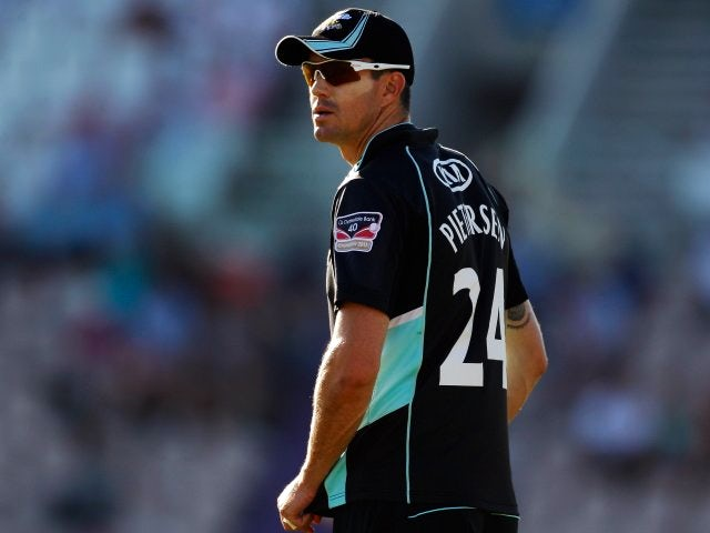 Former England batsman Kevin Pietersen stands in the field for Surrey on August 19, 2012.