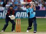 England's Luke Wright in action for Sussex on June 28, 2012.