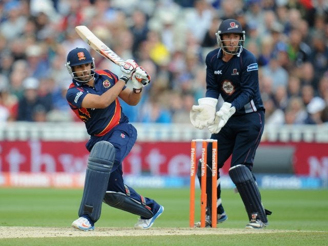 England international Ravi Bopara in action for Essex on August 17, 2013.