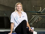 Rebecca Adlington poses for a picture during the launch of the British Gas SwimBritain event at the London Aquatic Centre on April 9, 2014