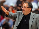 Head coach Stan Van Gundy leads the Orlando Magic against the Denver Nuggets at Pepsi Center on April 22, 2012