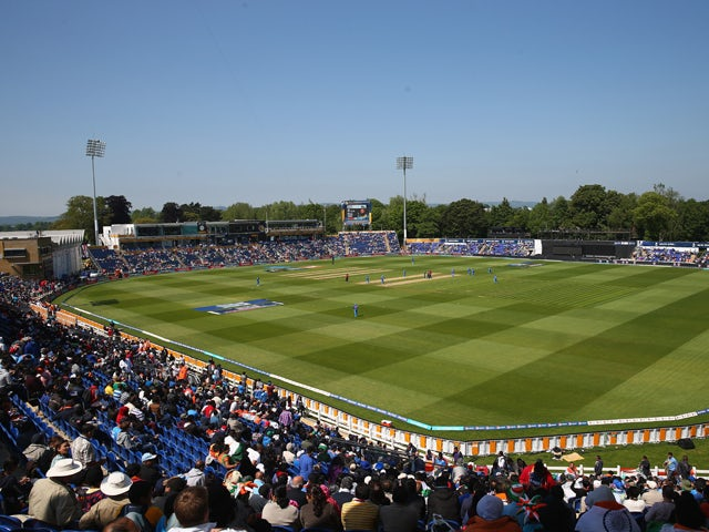 General stadium view during the Group B ICC Champions Trophy match between India and South Africa at the SWALEC Stadium on June 6, 2013