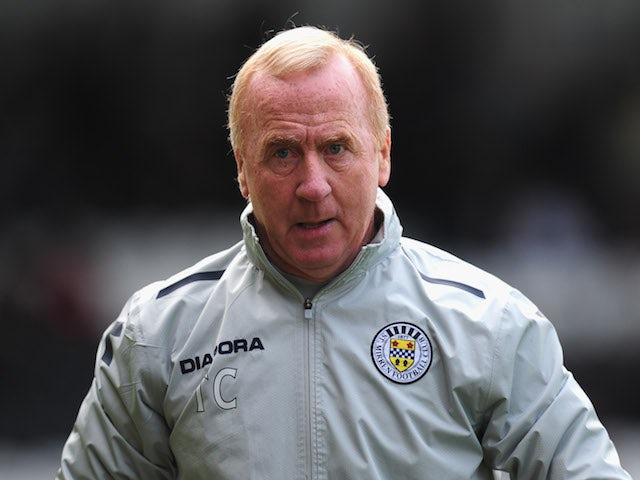 St Mirren coach and former Newcastle United midfield schemer Tommy Craig looks on before a Clydesdale Bank Scottish Premier League match on October 20, 2012