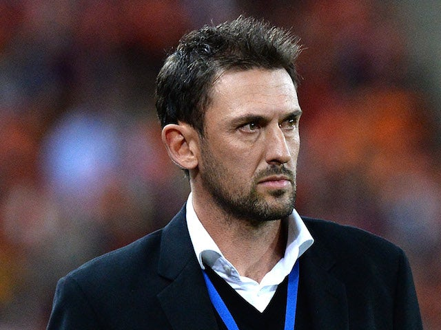 Coach Tony Popovic of the Wanderers watches on during the 2014 A-League Grand Final match between the Brisbane Roar and the Western Sydney Wanderers on May 4, 2014