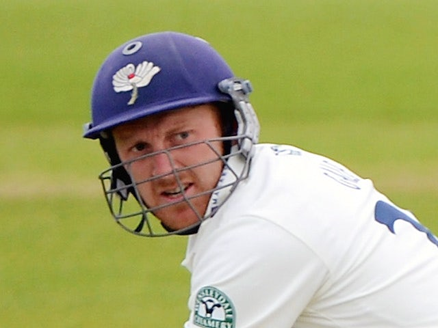Yorkshire captain Andrew Gale bats during day one of the LV County Championship division One match between Yorkshire and Northamptonshire at Headingley on April 20, 2014