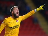 Goalkeeper Ben Hamer of Charlton shouts instructions during the Sky Bet Championship match between Charlton Athletic and Barnsley at The Valley on April 15, 2014