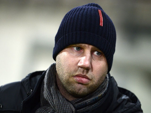 Waasland-Beveren's head coach Bob Peeters attends the Belgium championships Pro League football match Waasland-Beveren vs Mons, in Beveren, on January 18, 2014