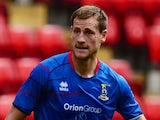 Gary Warren of Inverness in action during the Pre Season Friendly match between Charlton Athletic and Inverness Caledonian Thistle at the Valley on July 27, 2013