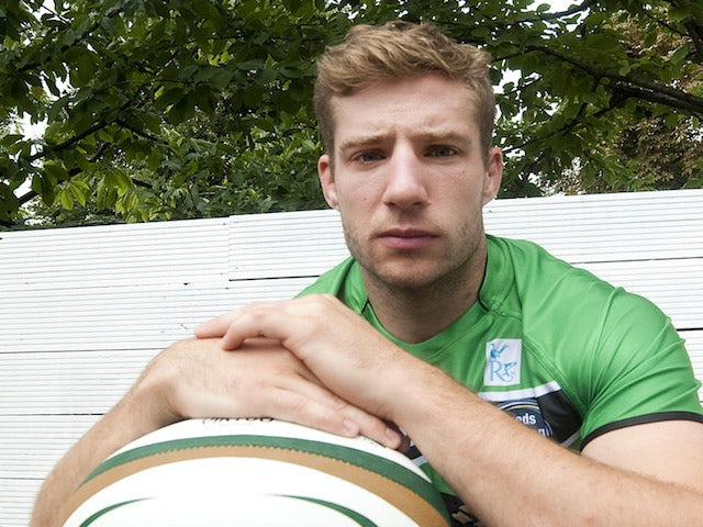 Jacob Rowan of Leeds Carnegie during the 2013/14 Greene King IPA Championship Launch at St Margarets Pub on September 03, 2013