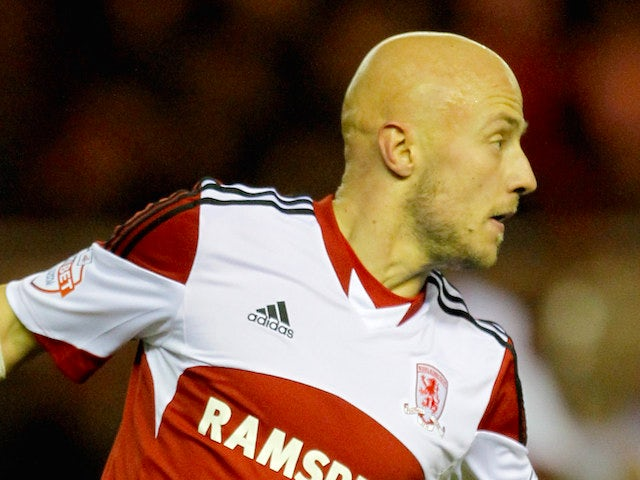 Jozsef Varga of Middlesbrough in action during the Budwieser FA Cup Third round match between Middlesbrough and Hull City at Riverside Stadium on January 04, 2014