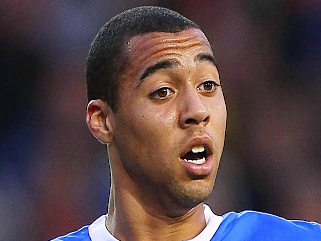 Kane Hemmings of Rangers in action during the Pre Season Friendly match between Blackpool and Rangers at Bloomfield Road on July 19, 2011