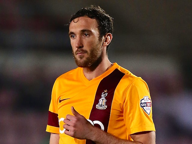 Rory McArdle of Bradford City in action during the Sky Bet League One match between Coventry City and Bradford City at Sixfields Stadium on April 1, 2014