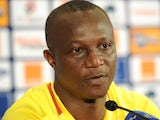Ghana head coach Akwasi Appiah speaks at a press conference on February 08, 2013.