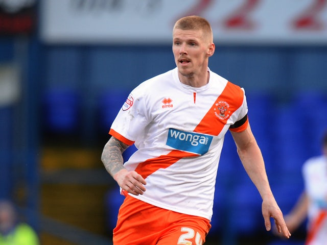 Andy Keogh of Blackpool during the Sky Bet Championship match between Ipswich Town and Blackpool at Portman Road on February 15, 2014