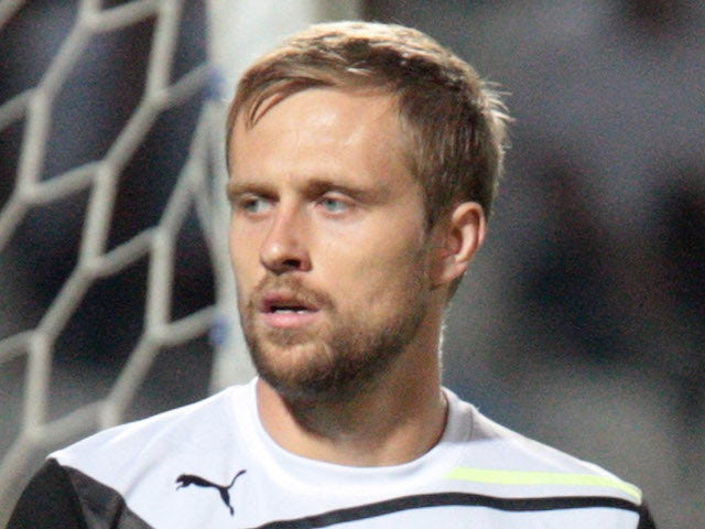 Dario Kresic of PAOK FC in action during the Greek Superleague match between PAOK FC and AEK Athens FC held on September 25, 2011