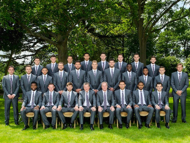 The 2014 England World Cup squad pose for a team photo on June 1, 2014